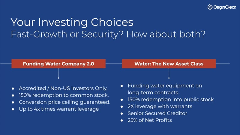 Investor choices