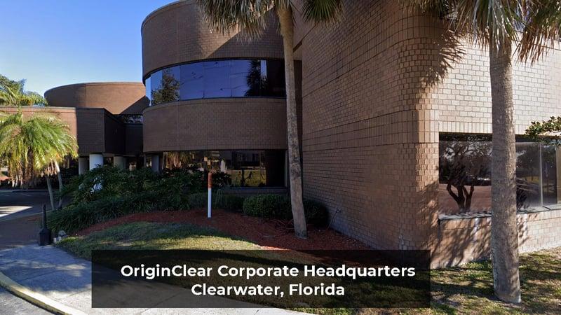 OriginClear Corp HQ Clearwater FL