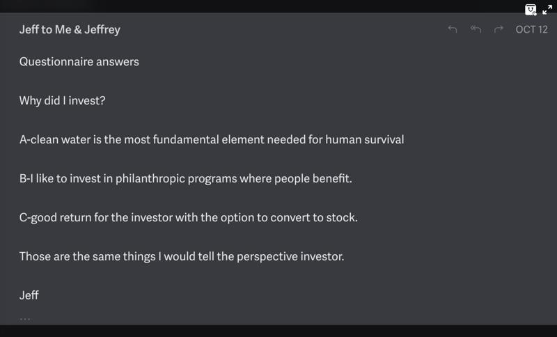 Philanthroinvestor survey responses