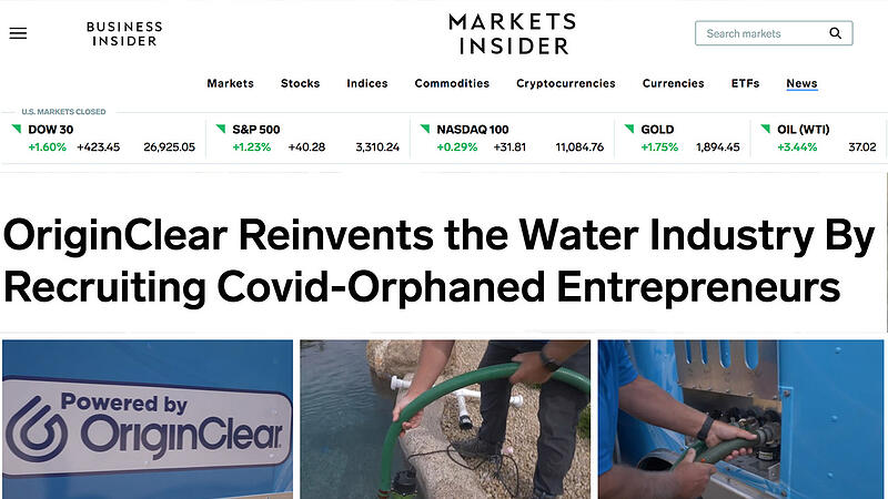 Reinventing the Water Industry article