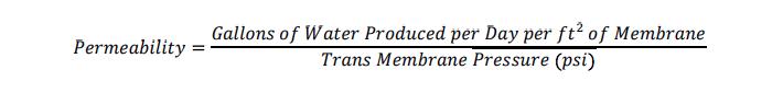 Bakersfield Permiability Equation