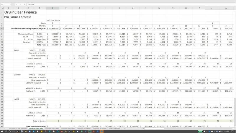 20201112 Pro Forma Profits Forecast