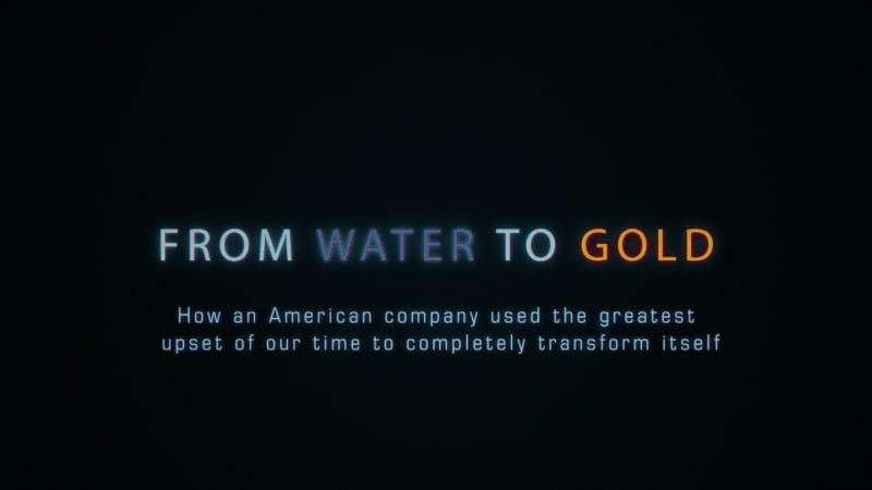 From Water to Gold title frame