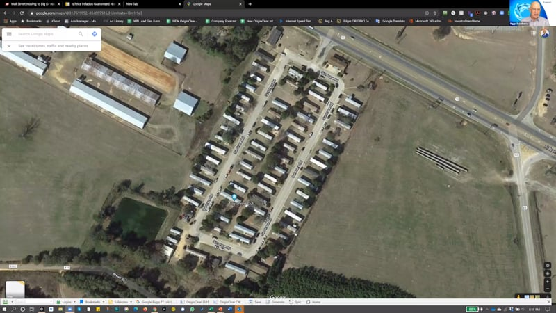 Trailer park satellite photo