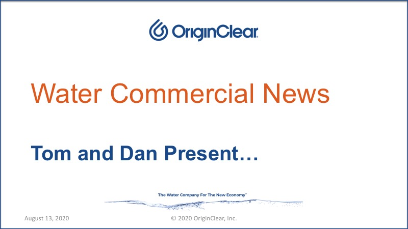 20200813 Water Commercial News