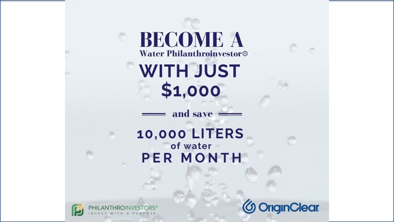 Become a Water Philanthroinvestor