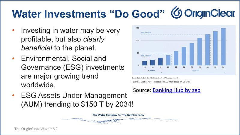 Water investments do good