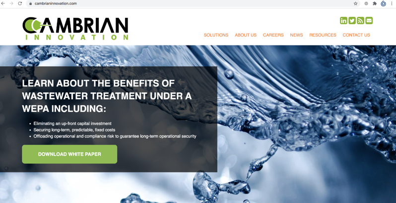 Cambrian Innovation website