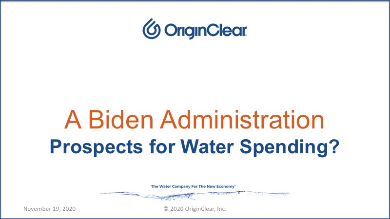 Biden Administration - Water spending