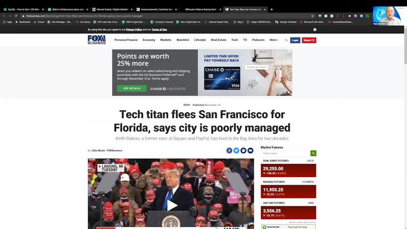 Tech titan flees San Francisco for Florida article