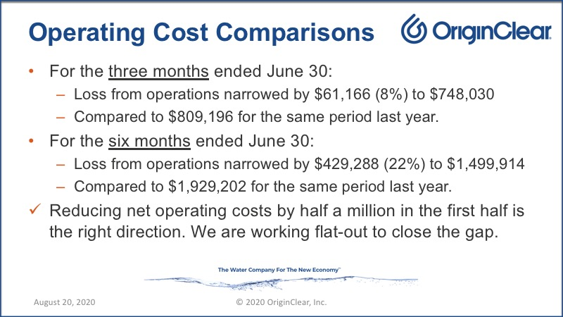 20200820 Operating Cost Comparisons