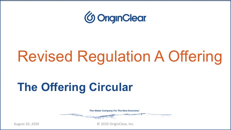 20200820 Regulation A Offering Revised