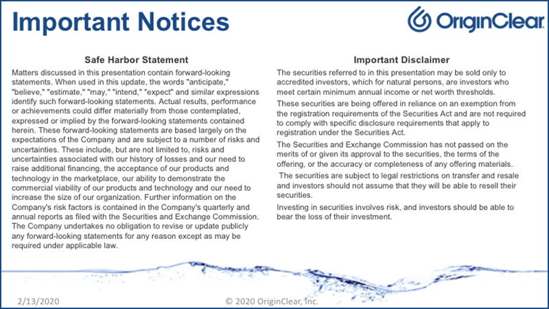 20200213 Important Notices