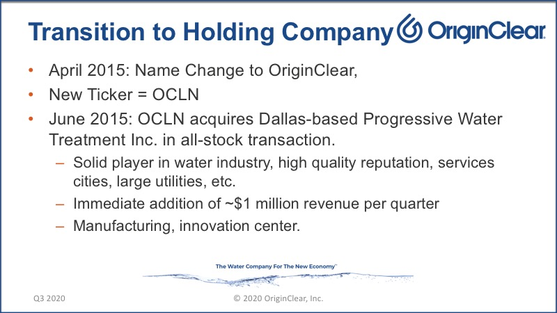 20200625 Transistion to Holding Company