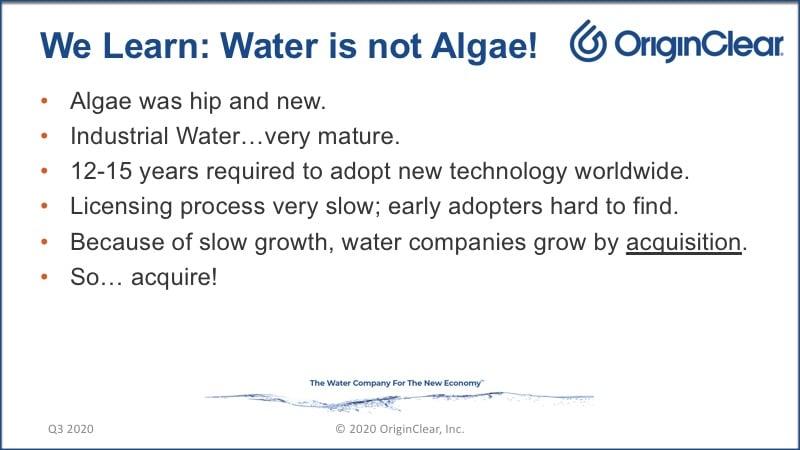 20200625 Water is not Algae