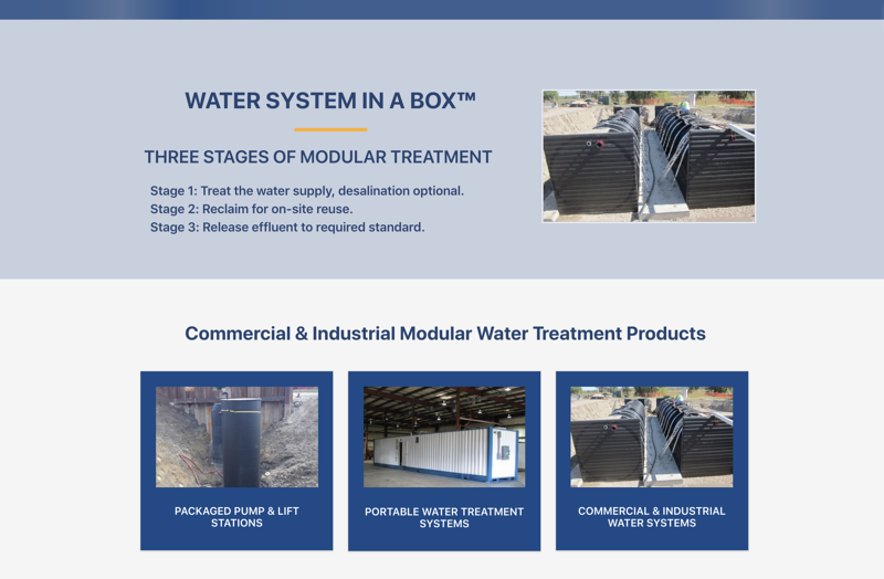 Modular Water Systems in a Box