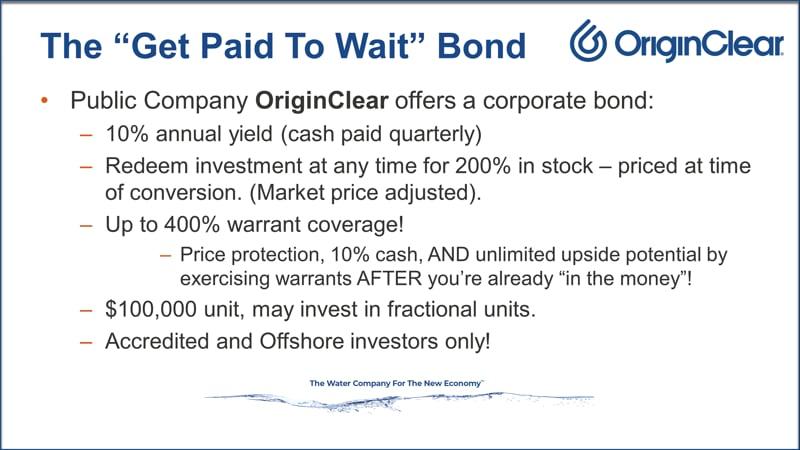 Paid to wait bond