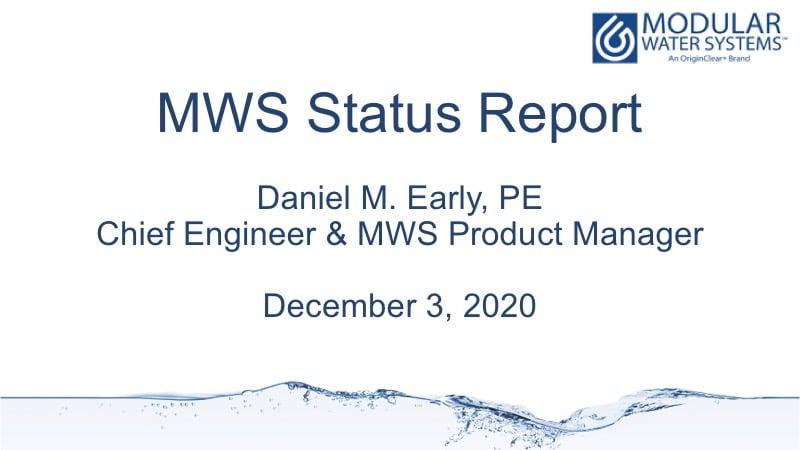 MWS Status report