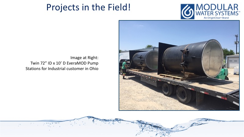 Twin pump stations delivered to a landfill in Ohio