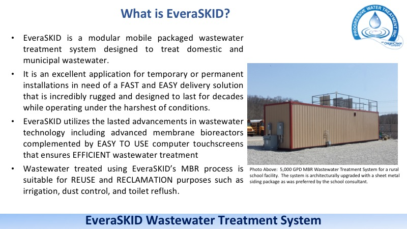 EveraSKID containerized wastewater treatment systems