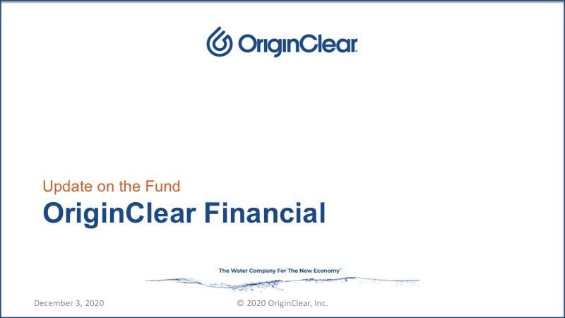 Presentation on OriginClear Financial