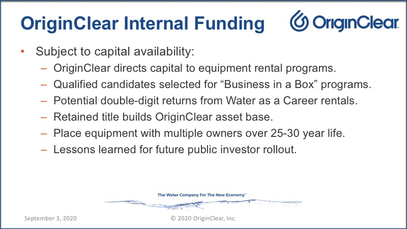 20200903 Internal funding