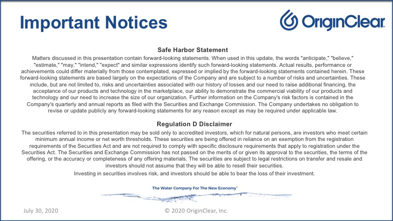 Important Notices
