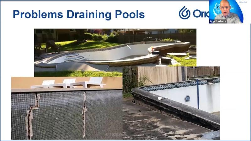 Problems Draining Pools