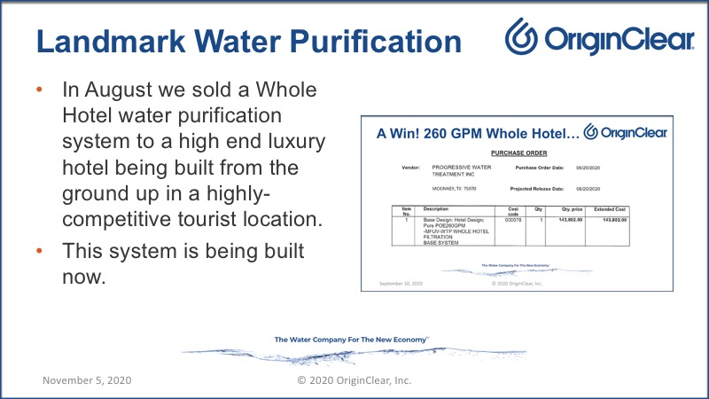 Whole hotel water purification system