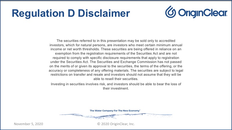 Disclaimer regarding the offering and its details