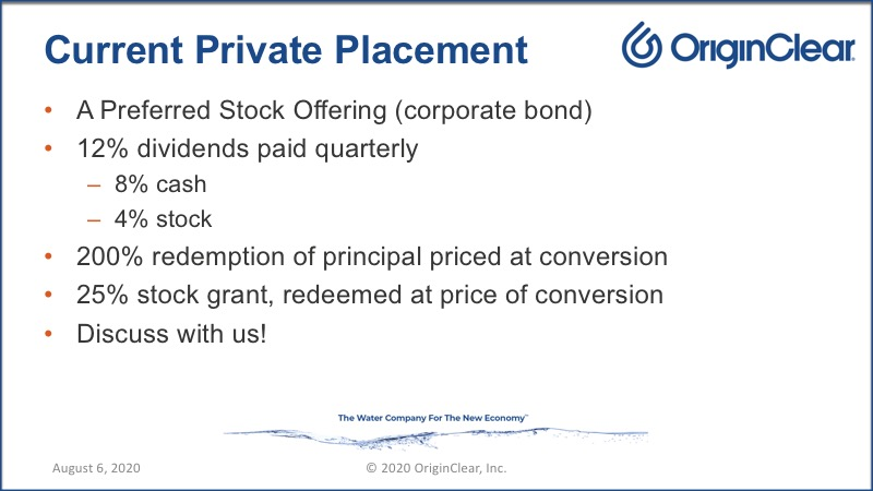 20200806 Current Private Placement