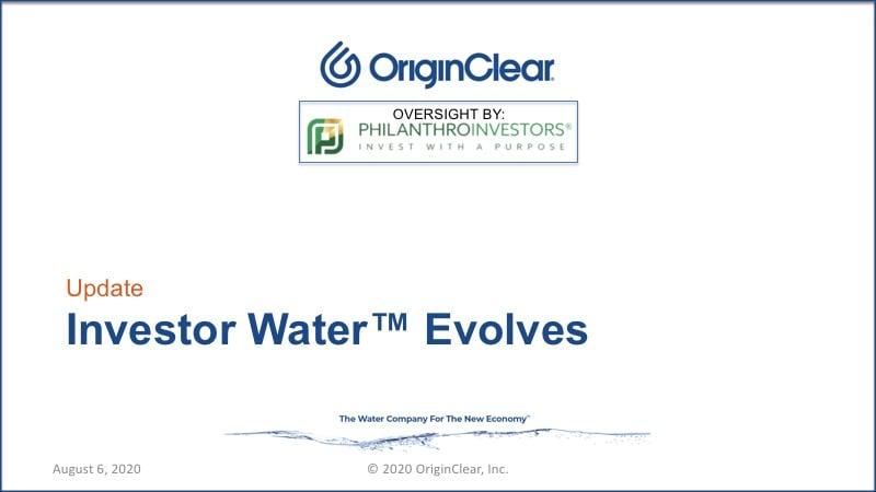 20200806 Investor Water Evolves