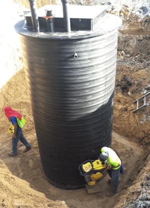 72-inch EveraMOD Pump Station being set