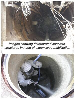 Deteriorating concrete structures require expensive rehab or replacement