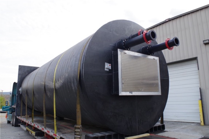 Pump station being delivered for installation