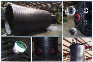 Structurally reinforced thermoplastic ports, conduits and components have superior strength and durability