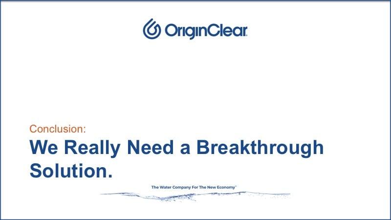 Really need breakthrough tech