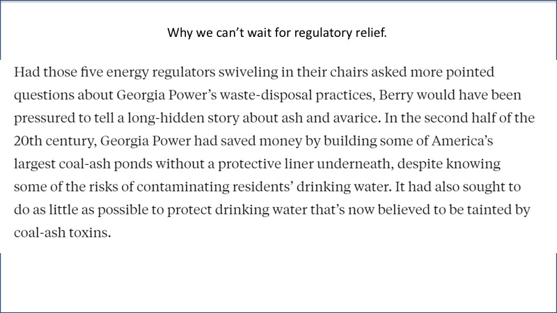 Why we cant wait for regulatory