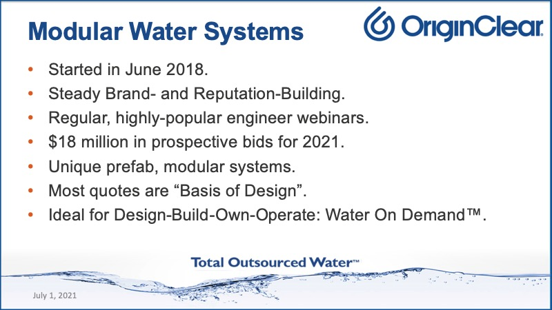 Modular Water Systems