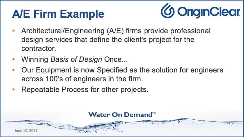 A/E example