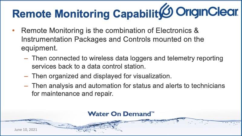 remote monitoring capability