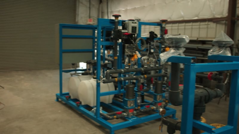 PWT Chemical feed skid