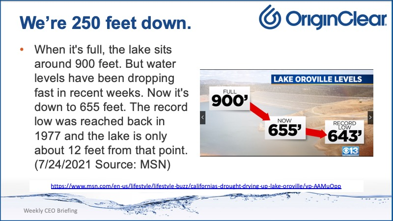 Oroville water level