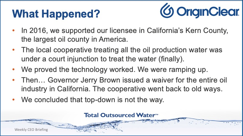 What happened to O&G push
