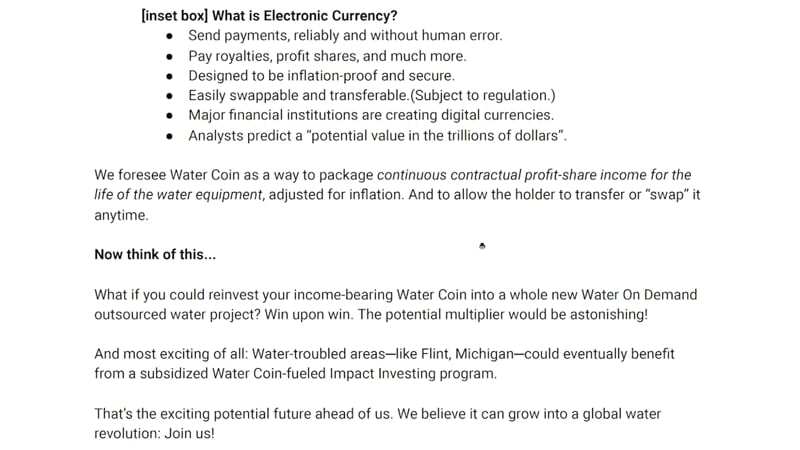 Electronic currency