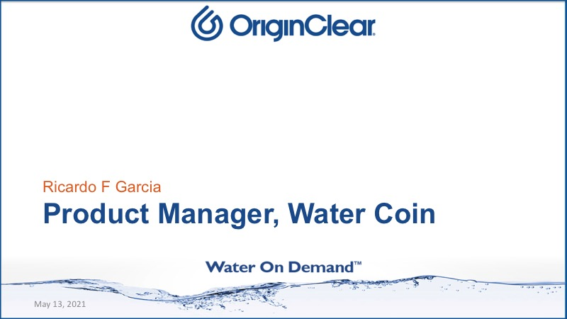 Product Manager Water Coin
