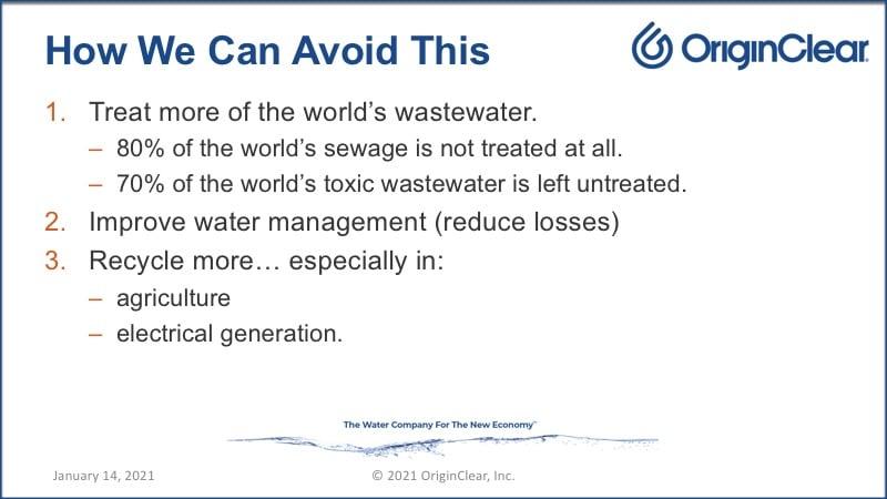 Avoiding Severe Water  Crisis