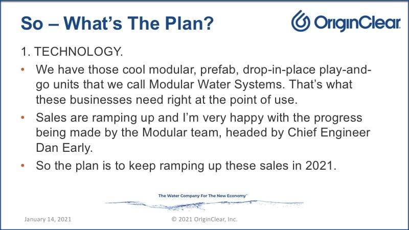 The OriginClear plan