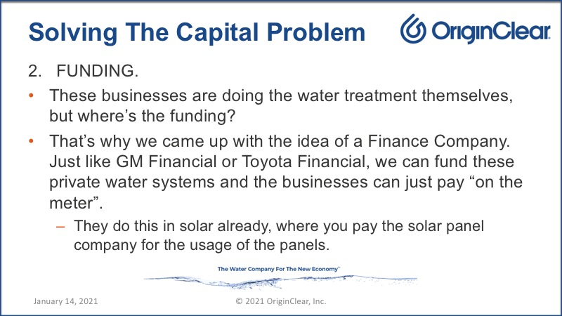 Solving the capital problem