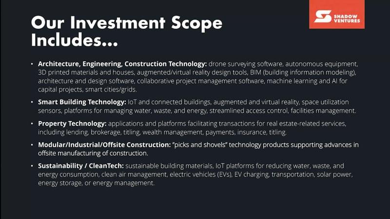 Investment scope